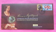 2010 Florence Nightingale 100TH aniversario £ 2 dos libras Bu Moneda FDC/PNC