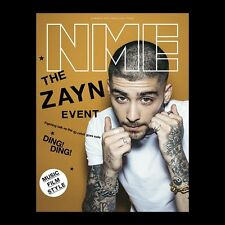 ZAYN MALIK Photo Cover interview UK NME MAGAZINE MARCH 2016
