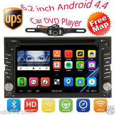 """Double 2 Din 6.2"""" Android4.4 Car Stereo DVD Player Radio GPS 3G WIFI BT+ Camera"""