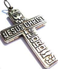 James Avery Retired Jesus Christ Is Lord Pendant 2 Fish 5 Loaves Cross Pendant