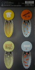 NEW 4 pc TRAVEL BOOKMARK Explore Journey Discover AUTUMN LEAVES CLEAR CLIPS