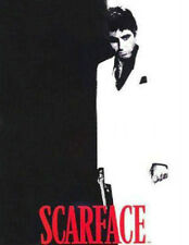 """Scarface Silhouette Mink Plush Blanket Queen Size 79"""" x 95"""""""