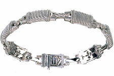 Judith Ripka 8 inches RopeTextured Sterling Silver Bracelet