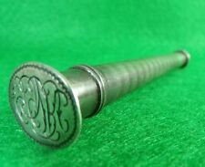 Antique 19th Century Silver Double Ended Container Wax Seal Stamp