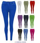 NEW WOMENS LADIES SKINNY FIT COLOURED STRETCH JEANS JEGGINGS SIZE 8-20 PLUS SIZE