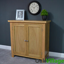 OAKWOOD OAK LINEN CUPBOARD / STORAGE CABINET / SIDEBOARD / SOLID WOOD / HALL