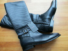 Paul Smith SWIRL NAVY BLUE Slim Fit Leather Boots UK5.5 EU 38.5 - Made In Italy