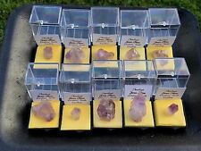 Wholesale Lot of 10 Amethyst Quartz Crystal Point in Perky Box Ellis Jones S.C.