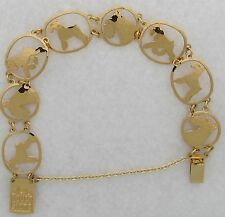 Miniature Schnauzer Jewelry Gold Bracelet by Touchstone