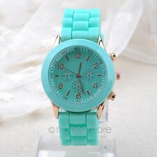 Hot Selling Geneva Ladies Watch Gift For Her Women Silicone Strap
