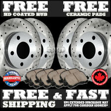 P0608 Front+Rear Cross Drilled Brake Rotors Ceramic Pads SEE DETAIL&SIZE B4 BUY