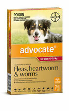 ADVOCATE FOR DOGS 10-25kgs  6 PACK  EXPIRY 01/2019