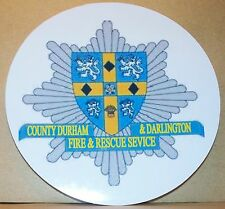 Fire and Rescue Service Durham & Darlington vinyl sticker personalised..