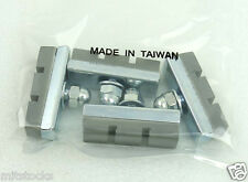 4 PCS BOLT ON BICYCLE BIKE 10 SPEED BRAKE RUBBER PADS SHOES NEW GRAY