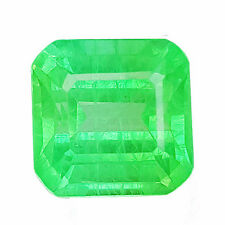 11.40 cts OCTAGON FACET COLOMBIAN GREEN EMERALD CHATHUM LAB CREATED