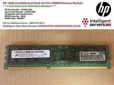 HP 16GB (1x16GB) Dual Rank x4 PC3-12800R Memory Module - 672631-B21 672612-081