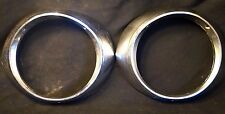 Vintage 1930s 40s 50s Ford Chevy Pontiac Headlight Bezels Set Hot Rod Rat Rod