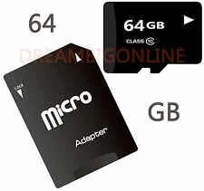 64 GB Universal Micro SDXC Flash Memory Card With Free Adapter Class 10 SDXC NEW