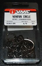 VMC 8382BN-60 Nemesis Saltwater Circle Hooks Size 6/0 Vanadium Steel Pack of 25
