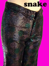RAINBOW SNAKE pant LEATHER jean 2  DISCO sequin chainmail gothic punk steam flar