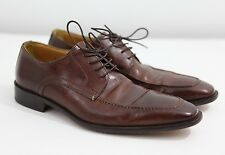 Men's size 8 John W. Nordstrom Italian Leather Loafers Oxfords Brown See PICS!