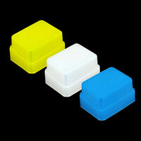3 Color Blue Yellow White Flash Diffuser Bounce Soft Cap Metz 48 50 58 AF-1 AF-2