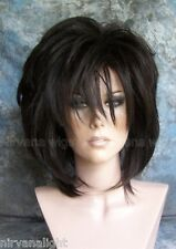 LARGE FIT...Natural Black Layered Womans Nirvana Tina Turner Drag? Wig