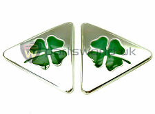 PAIR brand new genuine Alfa Romeo MiTo Cloverleaf wing badges 50521786 50521787