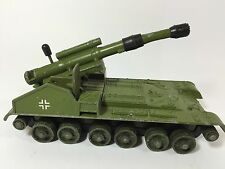 DINKY TOYS GERMAN CHIEFTAIN TANK 155MM MOBILE GUN - MADE IN ENGLAND + TRACKS