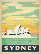 SYDNEY AUSTRALIA VINTAGE TRAVEL POSTER IMAGE  A4 Poster Print Laminated (New)