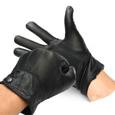 MOTORCYCLE BIKE CYCLING LEATHER GLOVES FULLY LINED SOFT WINTER WARM THERMAL
