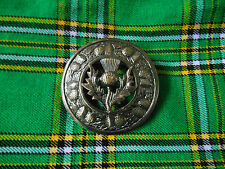 Thistle Brooches Fly Plaid/Kilt Fly Plaid Brooche Large Thistle Antique Finish