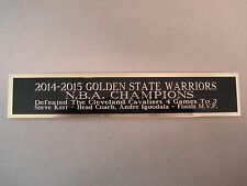 2014-15 Golden State Warriors Nameplate For A Signed Basketball Photo 1.5 X 6