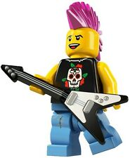 Lego Minifigures 8804 Series 4 Punk Rocker Brand New in Factory Sealed Packet