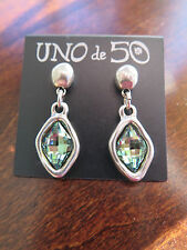 "Uno de 50 Green Swarovski ""Bum Bum"" Earrings"