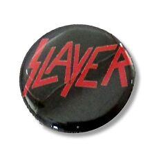 SLAYER SMALL LOGO BLACK CIRCULAR PIN NEW NWT METAL BAND MUSIC
