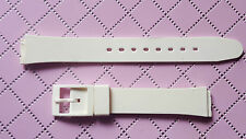 WATCH BAND BRACELET MONTRE A GLISSIERE 14mm //  Caoutchouc BLANC / Réf.EL35