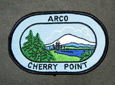 "ARCO CHERRY POINT EMBROIDERED SEW ON PATCH GAS OIL REFINERY 4 1/2"" x 3"" oval"