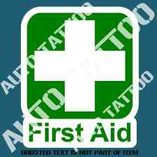 FIRST AID DECAL STICKER FOR COMMERCIAL OH&S VEHICLE VAN WARNING DECALS STKCERS