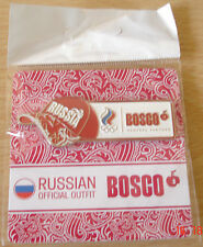 London Olympics 2012 - BOSCO: The Official Russia's outfitter pin badge.