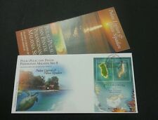 Islands And Beaches of Malaysia 2003 Coral Fish Map Turtle Sunset (miniature FDC