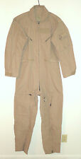 ARMY NOMEX CWU-27/P FLIGHT SUIT - TAN - SIZE 40L - NEW WITH CARDBOARD TAGS