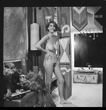 """Candy Earle Nude 2.25"""" Film Negative Busty Model Pinup Vintage Photo E1.50"""