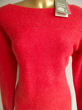 BN MONSOON SKYE AUTUMN WINTER BURNT ORANGE WOOL BLEND WARM JUMPER DRESS 8 10 12
