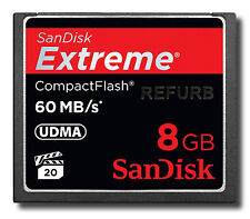 SanDisk CF Extreme 8GB 60MB/s 400x CompactFlash I 8 G Card SDCFX-008G 8 GB