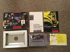 Batman returns-ntsc-fonctionnel-SNES Super Nintendo-coffret