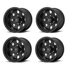 American Racing 172 BAJA AR1725865B 15X8 -19mm Offset 5x4.5 Black Set of 4 Rims