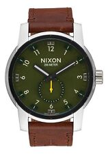 **BRAND NEW** NIXON WATCH THE PATRIOT LEATHER SURPLUS / BROWN A9382334 NIB!