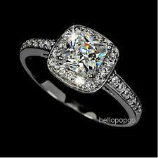 Elegant Jewelry 18K White Gold Gp Swarovski Crystal Wedding Jewelry Ring  BR556