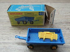 Matchbox Lesney 1-75 No 40c Hay Trailer Mint in Rare F Box